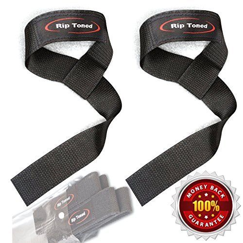 Rip Toned Cotton Padded Lifting Wrist Straps
