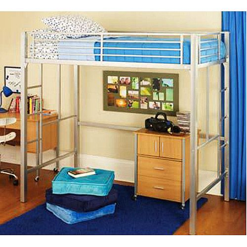 159 92 Your Zone Loft Collection Metal Loft Bed Only