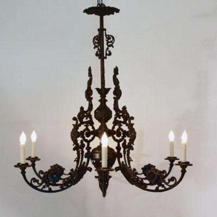 Victorian Cast Iron Chandelier (H29824425) For Sale | Antiques.com |  Classifieds - 22 Best Antique Victorian Chandeliers Images On Pinterest