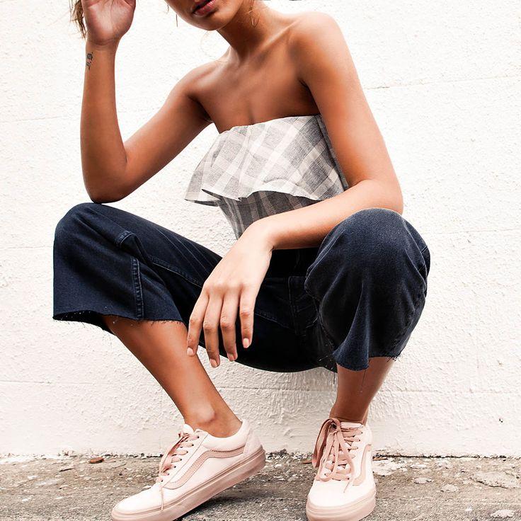 Old Skool 2-Tone Sneaker - Pearl + Rose