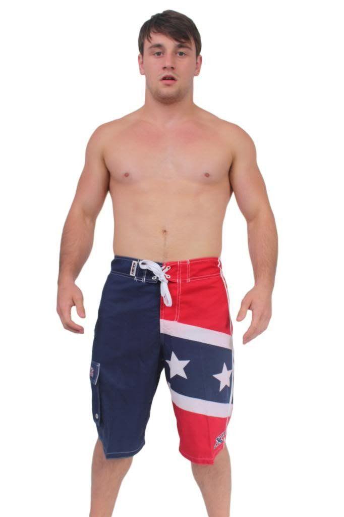 Men's Confederate Rebel Flag Board Shorts