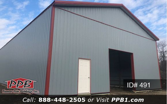 Big Storage 40 W X 120 L X 16 6 H Id 491 Approximate Cost 57 632 Pole Buildings Building Siding Colors