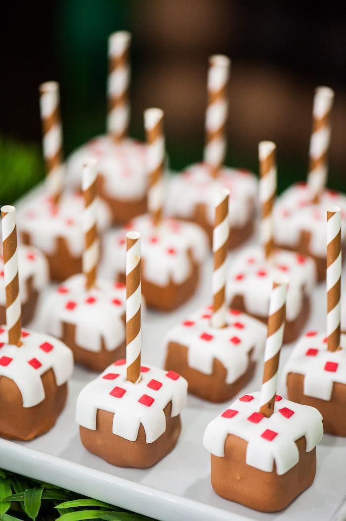 Cake Pops from a Minecraft Birthday Party via Kara's Party Ideas KarasPartyIdeas.com (15)