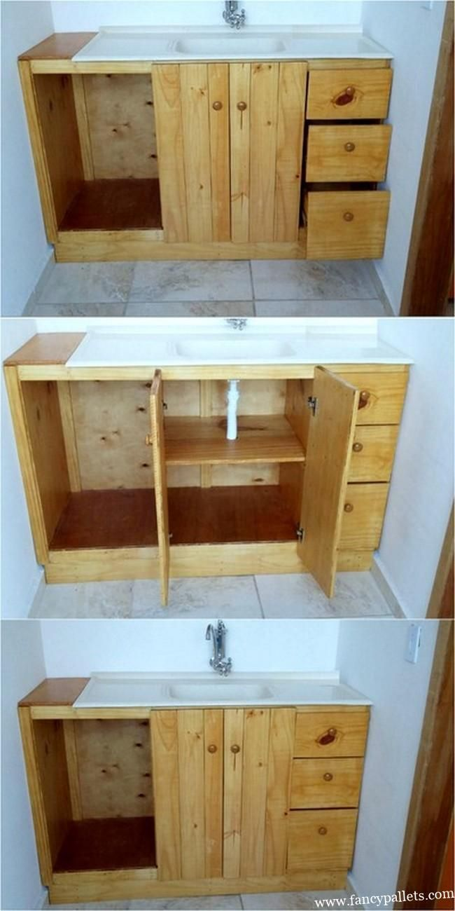 Attractive Diy Pallet Kitchen Sink Pallet Diy Diy Pallet Projects Pallet Decor