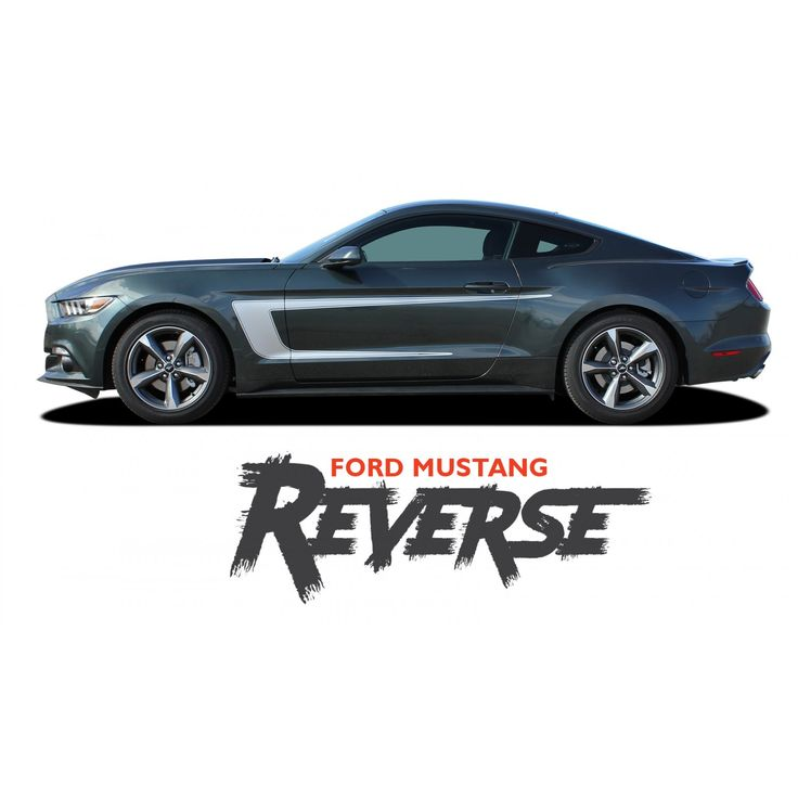 Ford mustang reverse c reversible style side door body vinyl graphic decals stripes kit 2015 2016 2017
