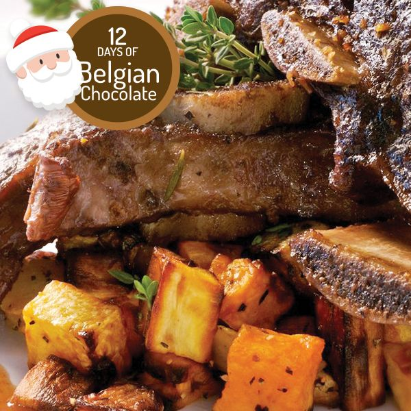 Braised Beef Short Ribs with Belgian Chocolate Espresso