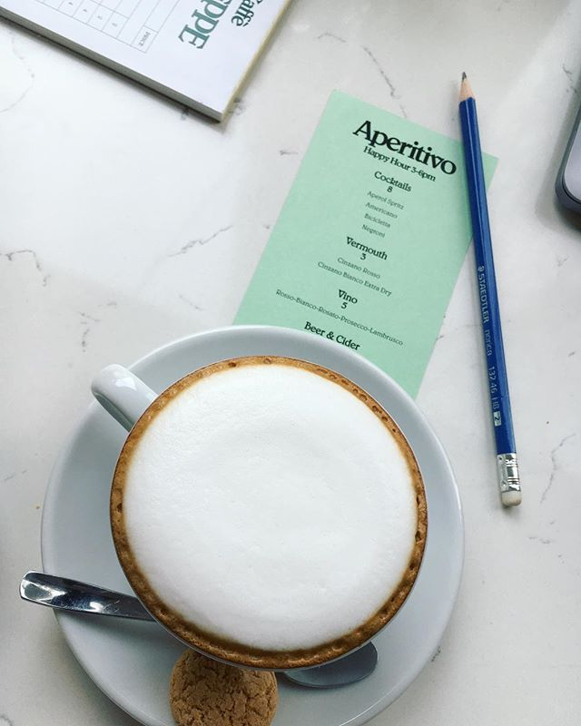 Cappuccino superbly on point at our new favourite aperitivo-slash-afternoon work meetings spot in Gastown. Italian crush. #districtlocal #ontheDLtip #cappuccino #yvreats #cafeyvr #gastown #cafeculture
