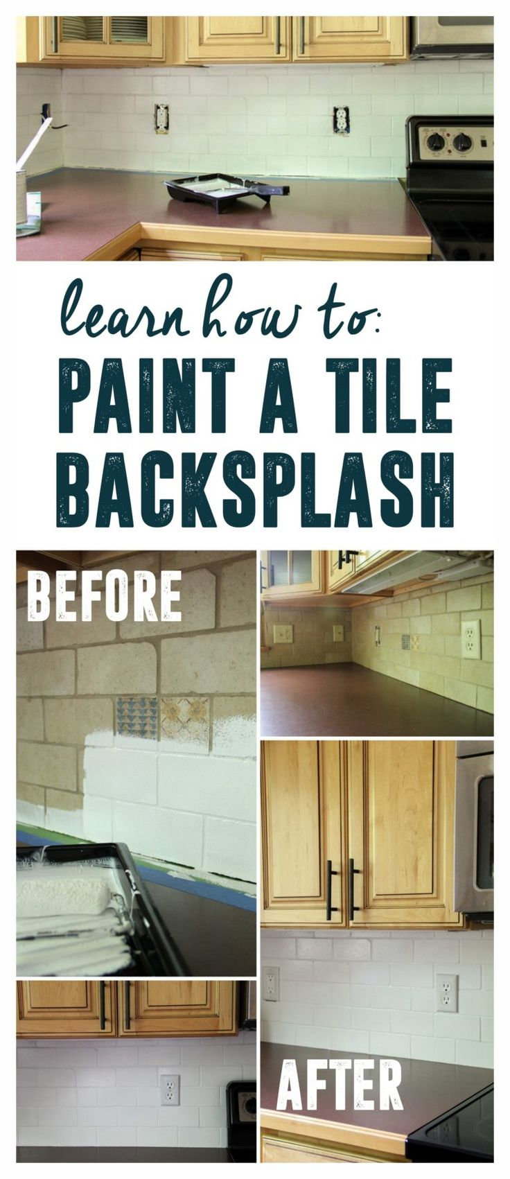 The 25 best painting tile backsplash ideas on pinterest the 25 best painting tile backsplash ideas on pinterest painting tiles painting kitchen tiles and paint backsplash dailygadgetfo Image collections
