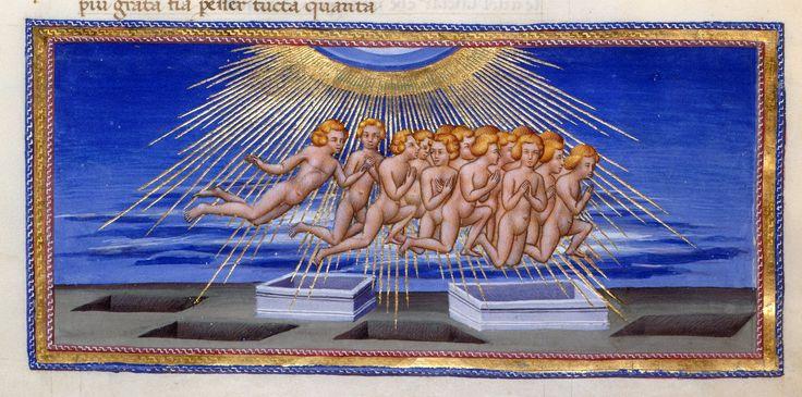 Resurrection of the dead - Dante Alighieri Title Divina Commedia Origin Italy, N. (Tuscany, Siena?) Date between 1444 and c. 1450 Language Italian http://www.bl.uk/catalogues/illuminatedmanuscripts/record.asp?MSID=6468&CollID=58&NStart=36