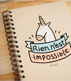 """Cahier """"Rien n'est impossible"""""""