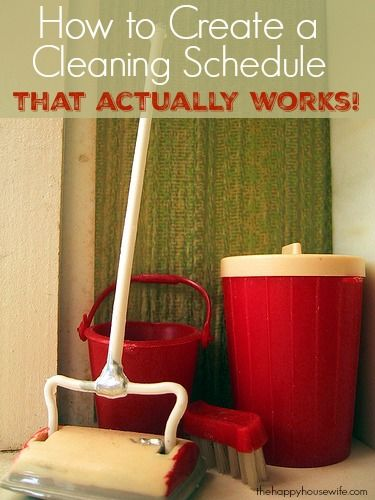 If you struggle with keeping your house clean it could be that you need to try a different cleaning schedule. There isn't a one size fits all approach to cleaning, so here are some ideas so you can figure out what works best for you.