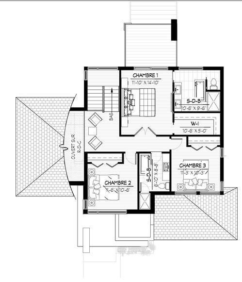 Avec son architecture actuelle et son aménagement intérieur intelligent, le modèle Le Laurier à toit plat est un de nos modèles coup de cœur.