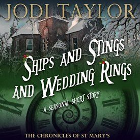 """Another must-listen from my #AudibleApp: """"Ships and Stings and Wedding Rings: A Chronicles of St. Mary's Short Story"""" by Jodi Taylor, narrated by Zara Ramm."""
