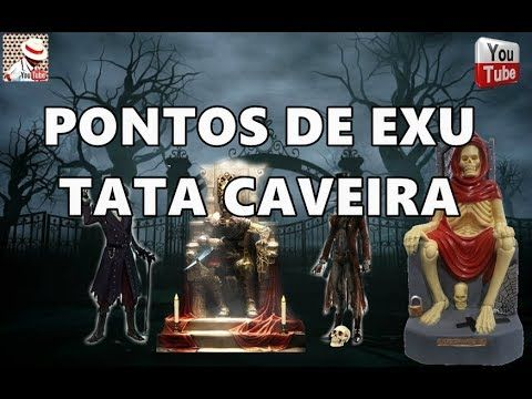 PONTOS DE EXU TATA CAVEIRA COM LETRA