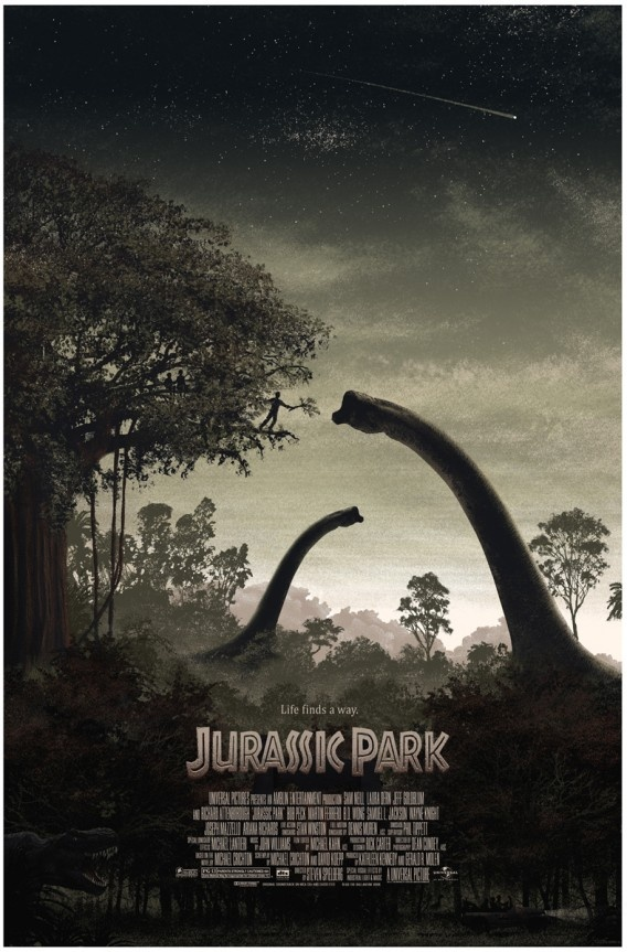 Jurassic Park was awesome and so is this poster!