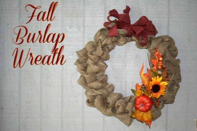 Fall Burlap Wreath Tutorial