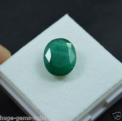 Natural 5.70 Ct Certified Oval Cut Zambian Green Emerald Gemstone_For Ring.. USD 3.36