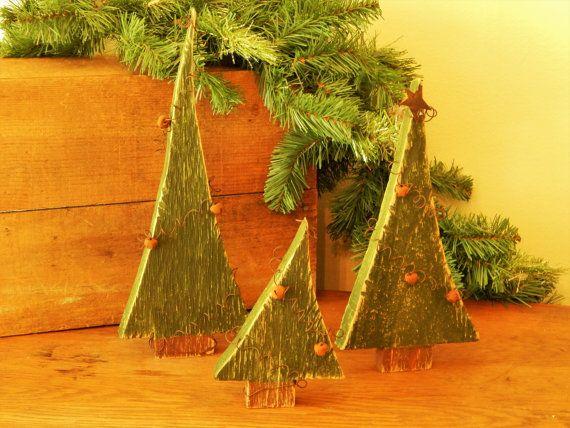 Jingle Bell alberi, alberi di Natale, decorazioni di Natale, alberi di pino a mano, fatti a mano alberi di Natale, alberi di Natale di legno fatto in casa