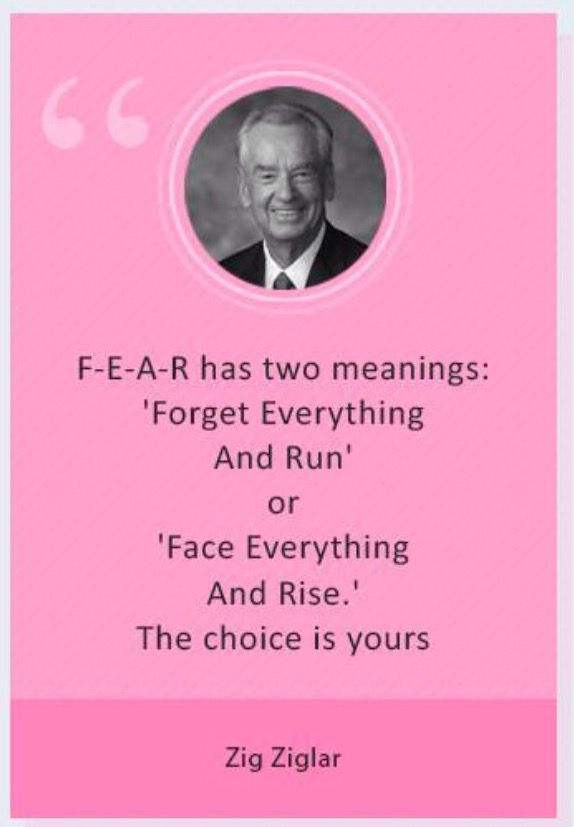 Fear has two meanings.....