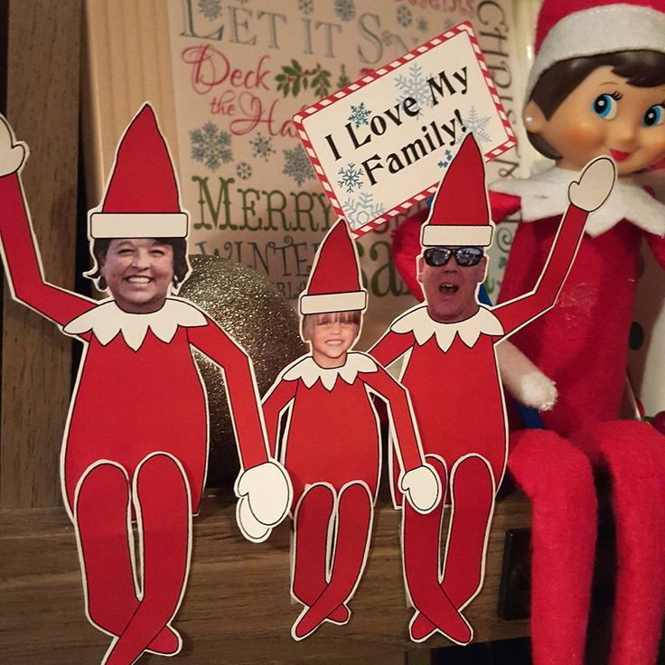 Go Elf yourself! I can't remember where I saw this idea, but I love it! I found scout elf clipart and just replaced the elf faces with our faces. Then I cut out the resulting paper dolls and …