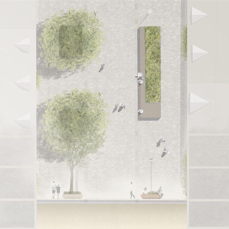Détail des bancs / lits de plantes, © WES LandschaftsArchitektur