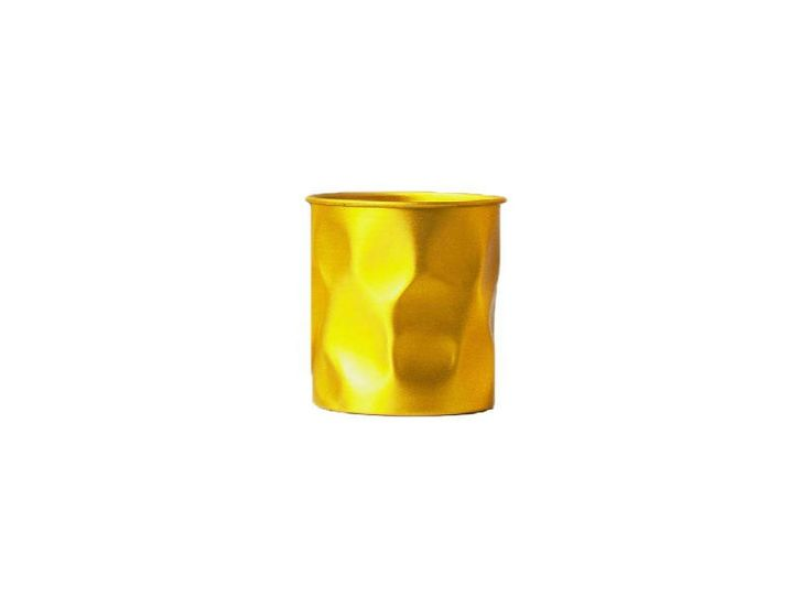Vaso Ouro feito em alumínio martelado e anodizado