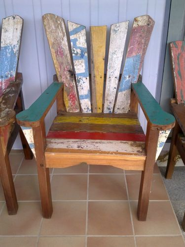 Balinese Recycled Boat Furniture Chairs   Hand Made | EBay