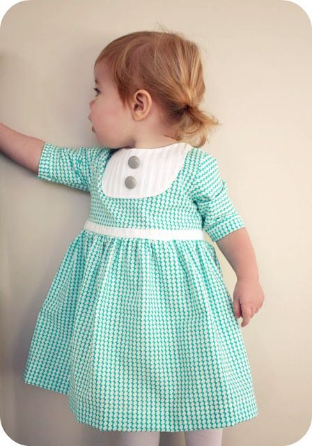 Pleated yoke dress tutorial from Craftiness is not Optional #kids #sewing #DIY