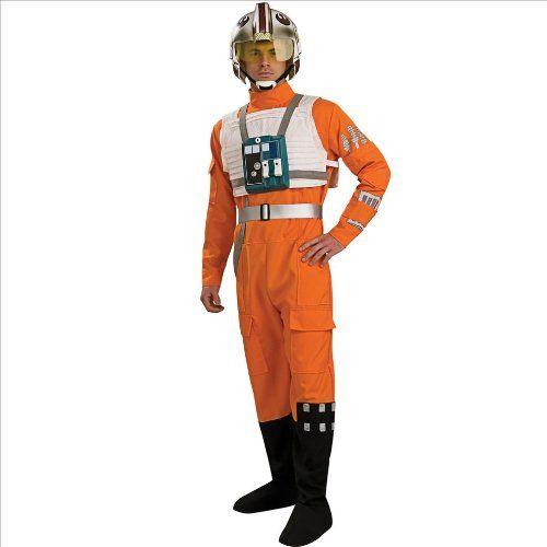Star Wars XWing Pilot Costume  Standard  Chest Size 46 ** Click image for more details.Note:It is affiliate link to Amazon.