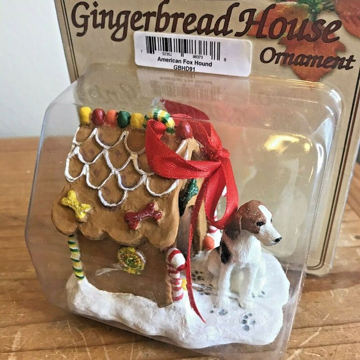 American Fox Hound Dog Christmas Ornament Gingerbread