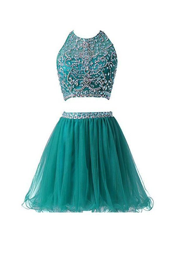 762085df3894 Prom Dress Two Piece, Prom Dresses 2019, Homecoming Dress Short #Prom # Dresses #2019 #Dress #Two #Piece #Homecoming #Short #PromDressTwoPiece ...