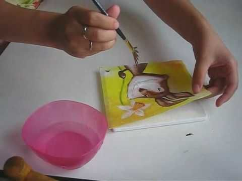 Как нанести салфетку без складок - YouTube