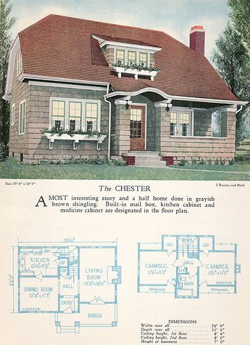 1928 Home Builders Catalog - The Chester by American Vintage Home, via Flickr