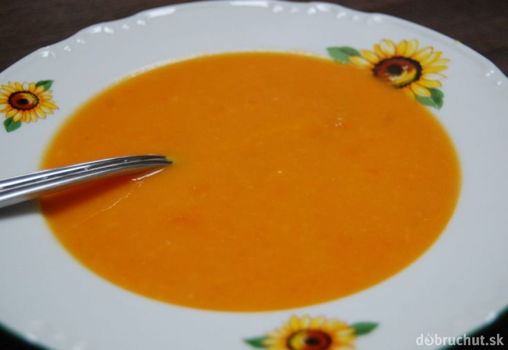 Fotorecept: Mrkvovo-zázvorová krémová polievka