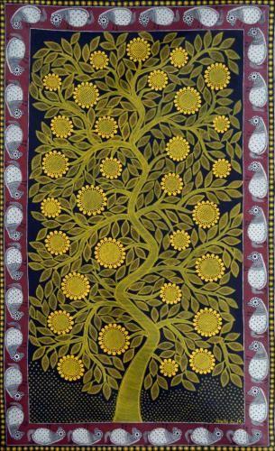 Madhubani Painting by Amrita Jha