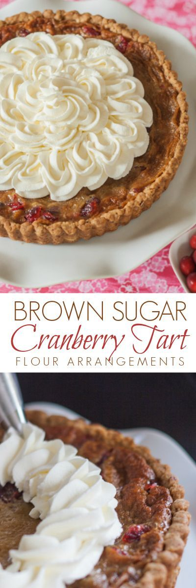 Brown Sugar's sweetness tempers the tangy, slightly bitter edge of cranberries in this Brown Sugar Cranberry Tart. This unique dessert recipe is perfect for the holidays and beyond.