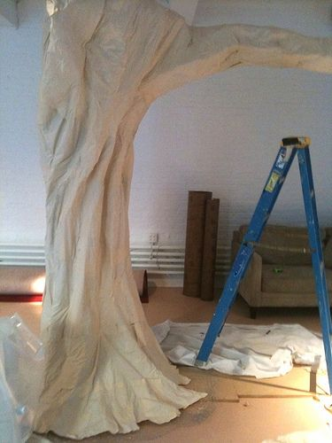 custom tree props nyc window concepts paper mache tree