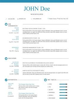 Creative Resume Template For Word  Creative Resume Templates Microsoft Word