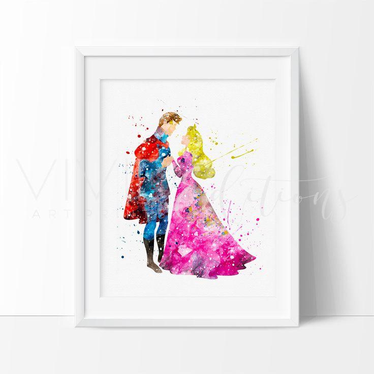 Aurora Sleeping Beauty Princess Nursery Art Print