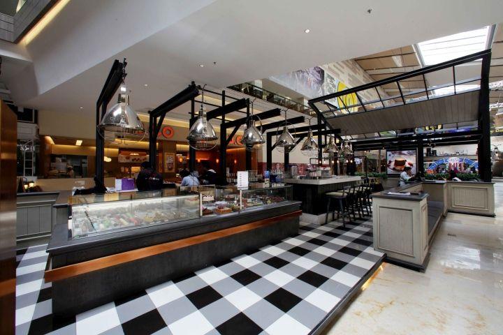 Corner Bakery Tiles : Bakerzin café by metaphor interior at kota kasablanka