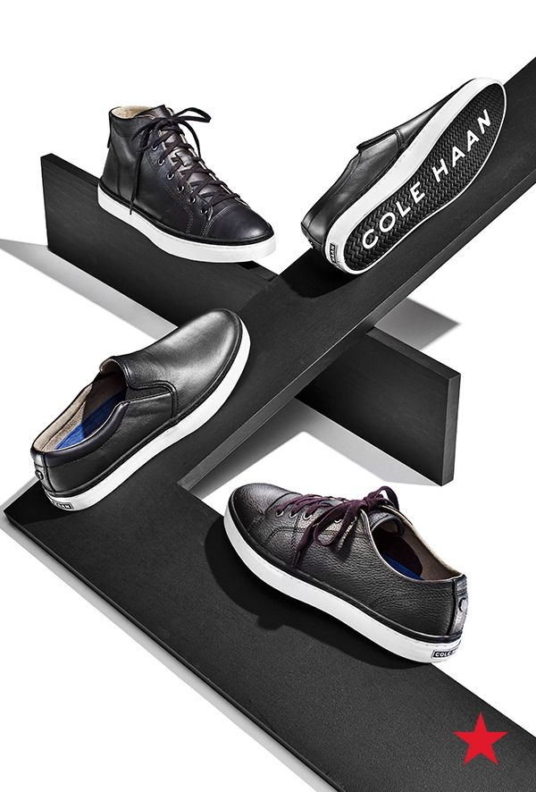 Step into the dark side with these cool kicks from Cole Haan