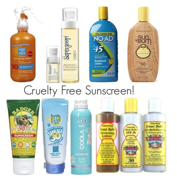CRUELTY FREE SUNSCREEN BRANDS - CLICK FOR A LIST OF BRANDS  Beauty4Free2U