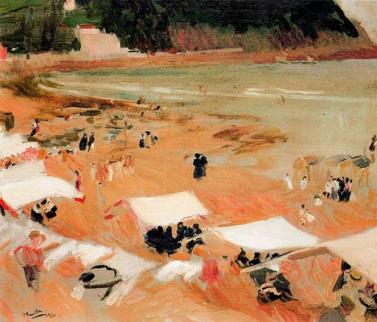 Joaquin+Sorolla+Bastida+-+Beach+of+Zarauz.jpg (800×684)