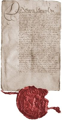 Declaration of the foundation of the Dutch East India Company by the State General on March  20th 1602 [original at the National Archives in...