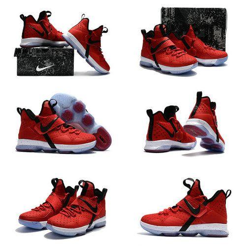 Latest LBJ Sneakers Cheap Nike Lebron 14 XIV New Colorways University Red Black White