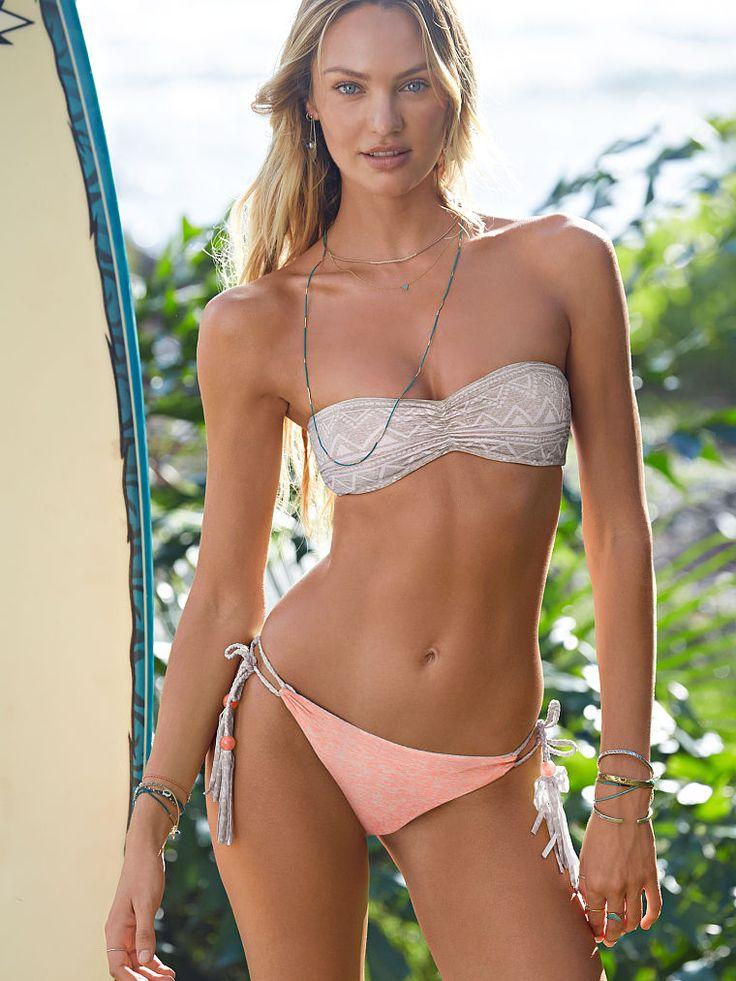 Victoria's Secret Reversible Lace-back Bandeau Bikini ...