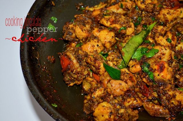 Pepper Chicken Fry | Milagu Kozhi varuval–South-Indian style | Cooking Jingalala