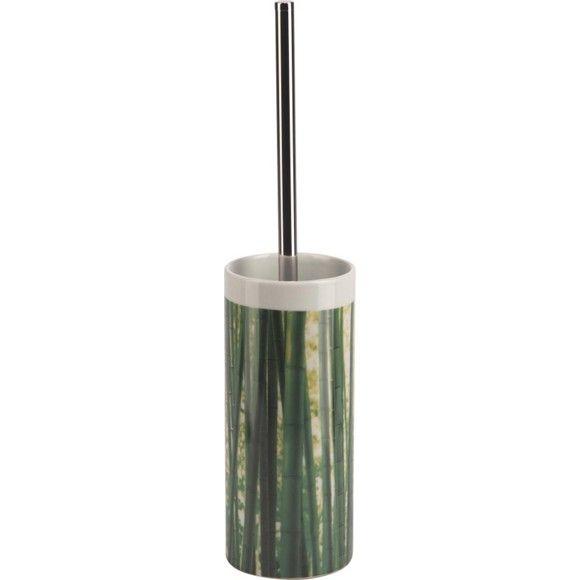 Diese WC Bürstengarnitur ist mit ihrem Bambus-Design ein echter Hingucker im Badezimmer!