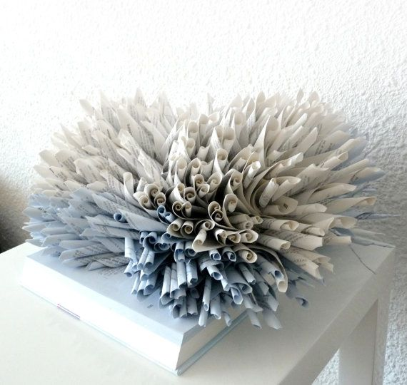 sculpture book blue coral, good example of making tubes