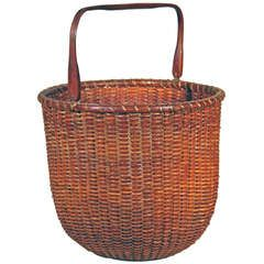 Rare Tall Lightship Basket with Handle  8750.00.